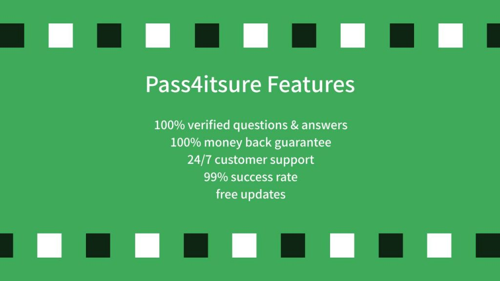 Pass4itsure Features