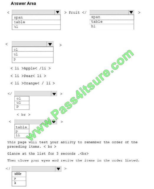 98-383 exam questions-q5-2